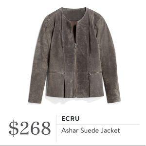 Ecru Real Suede Porcini Jacket
